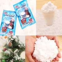 artificial tree bag - Christmas Decoration Instant Snow Magic Prop DIY Instant Artificial Snow Powder Simulation Fake Snow For Night Party G Bag Top quality4252