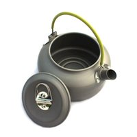 Wholesale 1 L Portable anti oxidation food grade aluminum alloy mountaineering fishing coffee teat pot boil water kettle hiking camping pot