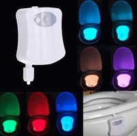 bathroom change - 8 colors Bathroom Human Body Auto Motion Activated Sensor Seat Light Night Lamp Changes with battery included L1420