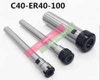 Wholesale C40 ER40UM L Collet Chuck Holder mm Extension Straight Shank for ER40 Collet with ER40UM Nut