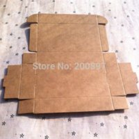Wholesale 350gsm Kraft paper rectangle box x60x22mm handmade gift packing box for candy box headphone