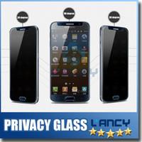 anti glare screen guard - Privacy Tempered Glass For S7 iPhone s Note Screen Protector Anti Spy Film Screen Guard Cover Shield