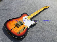 best electric saw - Best selling TL electric guitar see thru tobacco burst yellowish neck back and head top gold parts