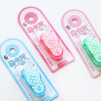 Wholesale stationery Macarons and portable mini cute little rubber hand double sided adhesive tape transparent small account