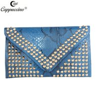 Wholesale Cappuccino new collection high quality pu leather ladies fashion evenlop clutch bags have different colour bags