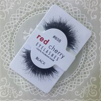 beauty export - Factory direct export red cherry handmade Natural false eyelashes Beauty Sale Free shining Synthetic Hair Eyelashes