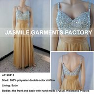 bamboo flooring photos - Elegant Long Sequins Prom Dresses Spaghetti Hand Made Crystal Beaded Evening Gown Sweetheart Backless Pleats Ruched Colorful Party Gown