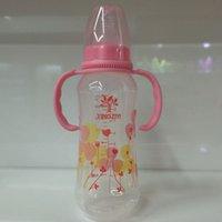 Wholesale 2016 Hot sale oz ml Standard PP big baby feeding bottle with handle month baby munufacturer