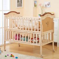 Wholesale 2016 Hot Sale Baby bed multifunction wood bed children s bunk beds playpen Baby Cribs