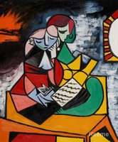 art lessons - abstract art painting The Lesson Pablo Picasso artwrok hand painted High quality