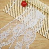 Wholesale High Quality Elegant mm white Lace Fabric Trim Gorgeous Cheap Lace Ribbon DIY Packing Trim Garment Accessories yards L730