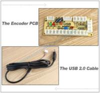 New Zero Retard USB Encoder PC Joystick Arcade Contrôleurs 2pin Rocker + boutons-poussoirs Happ Mame SNK KOF
