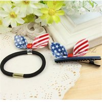 Wholesale Rabbit Ear Hair Clip In Stock the Stars and Stripes Hair Accessory Cute and Sexy Hair Clinking