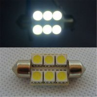Wholesale 10pcs Super Bright mm Festoon SMD LED C5W Car LED Auto Interior Dome Lights Lamps Bulbs Pathway lighting V Work Lamps