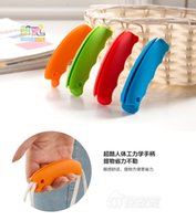 Wholesale Silicone Shopping Bag Carrier Grocery Holder Handle Tool Key Bag Grip Labor saving and material saving device