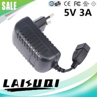 Wholesale 10pcs v a Usb Ac dc Power Adapter Eu Plug Charger Supply v3a For Tablet Pc Mid Other The New Hot Sale Real