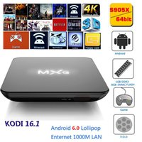 Wholesale MXQ GB GB Amlogic S905X Quad Core Android Marshmallow TV Box HDMI A Kodi Full Load European IPTV Smart BOX