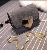 Wholesale Vogue Star evening bag Peach Heart bag women pu leather handbag Chain Shoulder Bag messenger bag fashion women clutches YK40