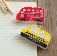 Wholesale Correction Tape Kawaii bus shape correction tape Nice package Lovely correction tapes ss a495