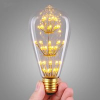 Wholesale Vintage Edison Bulb LED W ST64 Incandescent Light lamp Bulb E27 Light LED Bulb Filament Bulb Lighting Tubes Edison Bombilla