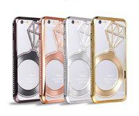 alumium case - Luxury Diamond Star Crown Metal Bumper Bling Case Bling Crystal Rhinestone Alumium Metal Frame cover For iPhone s iphone plus
