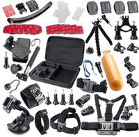 Wholesale Gopro accessories set go pro kit mount for SJ4000 gopro hero Black Edition SJCAM camera case xiaoyi chest tripod Carrying Case