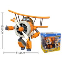 Wholesale fANSHION cm ABS Super Wings Deformation Airplane Robot Action Figures Super Wing Transformation toys for children gift Brinquedos