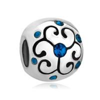 aquamarine birthstone jewelry - European Bracelet Beads Jewelry Aquamarine Birthstone Flower Bead For Women Jewelry Accessories Beads Charms Bracelets CBA0230
