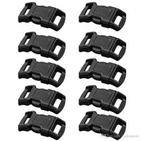 Wholesale For Paracord quot Curved Side Release Buckles Black Webbing Straps E00018 OSTH