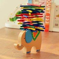baby balance beam - colorful stick balance Elephant beam balance game baby toys good gift for baby kids children toy