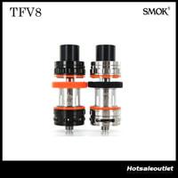 Wholesale Authentic Smok TFV8 Tank ml TFV8 Cloud Beast Tank Full Kit Fit for Kooper Primus W Mod H PRIV TC Mod Original