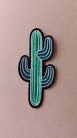 Wholesale Good Quality Ball Cactus Pattern Custom Embroidered Patch Garment Label