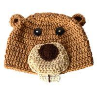 beaver hat - Novetly Woodland Animal Hat Handmade Knit Crochet Baby Boy Girl Beaver Beanie Hat Infant Toddler Photo Props
