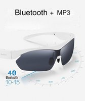 Wholesale Black White Sunglass Sun Glass Sports Headset MP3 Player bluetooth phone bluetooth eyeglasses for iphone s plus
