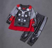 Wholesale 6 sets Cartoon Incredible Hulk Baby Kids Boys Cosplay Sleepwear Pajamas set sleepwear pijama pajama