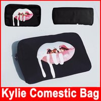 bag birthday - Kylie Jenner bags Cosmetics Birthday Bundle Bronze Kyliner Copper Creme Shadow Lip Kit Make up Storage Bag in stock