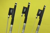 4 pièces PRO Archets de violon en fibre de carbone 4/4 pleine taille Ebony Frog
