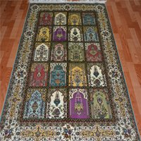antique oriental carpets - oriental collectable and valuable antique pure silk handmade iranian silk carpet