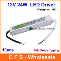Wholesale 10pcs DC Led Driver V W Waterproof Electronic LED CCTV Driver Transformer V A Power Supply Fedex DHL