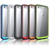 Pour iPhone6 Étui Supérieur Hybride TPU Bumper Clear Transparent Étui rigide pour PC pour iPhone 5S 6 Plus Samsung Note 5 S6 Edge Plus