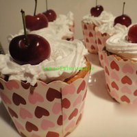 Wholesale mix color Cake paper cups Cupcake medium heat Muffin cup mechanisms hot Bakeware