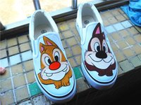 big adventure games - Big Squirrel Game Abu Adventures Hand Painted Cartoon Fashion Outdoor Unisex Sneakers Canvas Shoes Lovely