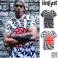 barred tee - Brand TEE Famous Hip Hop Star HIGH QUALITY Black Bar Stripe Letter Fashion Print Cotton Casual T Shirt for Men XL U1508