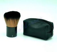 Wood bags hair - HOT Makeup rouge brush blusher brush Leather bag free gift