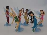 Wholesale sets High Quality PVC set Tinkerbell Fairy Adorable tinker bell Figures