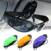 bank auto sales - Car Glasses Holder Auto Vehicle Visor Sunglass Eye Glasses Business Bank Card Ticket Holder Clip Support Color Random hot sale