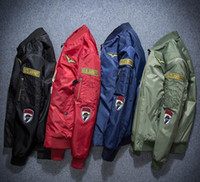 air tooling - US Air Force MA1 pilots coat jacket baseball clothing lovers thickening tooling locomotive winter coat men s tide
