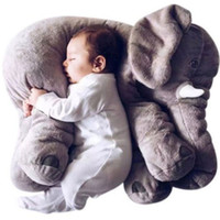Wholesale elephant pillow baby doll children sleep pillow birthday gift INS Lumbar Pillow Long Nose Elephant Doll Soft Plush
