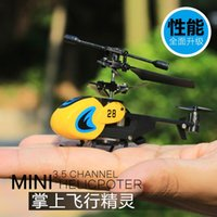Wholesale Mini remote control aircraft resistance to drop the charge of small alloy helicopter UAV helicopter model toys