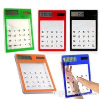 Wholesale New Solar Touch Screen LCD Digit Electronic Transparent Calculator G00236 SMAD